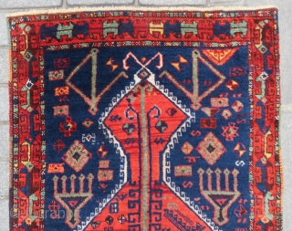 Antique Anatolian Kurdish prayer rug rug wpnderful colors and nice condition size 1,33x79 cm Circa 1880-1890