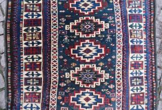 Caucassian kuba aria rug wonderful colors and excellent condition all original size 1,44x1,04 cm Circa 1900