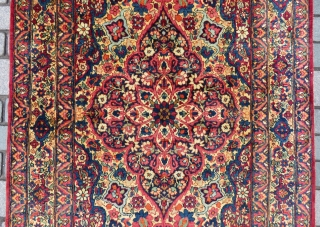 Antique Kirman Raver rug wonderful colors and very nice condition all original size 1,90x1,25 cm full pile Circa 1900-1910