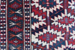 Turkoman asmaliyk Trapping wonderful colorsand very nice condition all original Size 1,14x70 cm Circa 1900