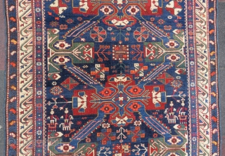 Antique Caucassian Zehkur rug wonderful colors and nice condition all original size 2,70x1,20 cm Circa 1880-1890