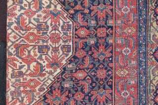 Antique Persian Bidikabat Gallerie Carpet wonderful colors and very nice condition all original size 5,10x2,10 cm ( 83 x 200 inches )  Circa 1900