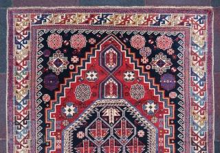 Antique Ahirvan rug wonderful colors and excellent condition all original size 2,00x1,26 cm Circa 1900