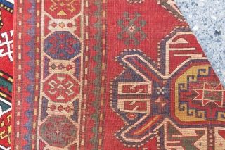 Kasak rug wonderful colors and very nice condition not full pile but in normal condition and size 3,06x1,38 cm Circa 1890-1900