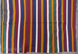 Shahsawen silk sofreh wonderful colors and very good condition and very fine work like paper Circa 1900