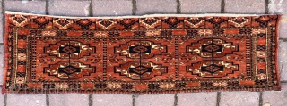 Turkoman Yamud for spoons bagface wonderful colors and very nice condition all original size 1,00x29 cm Circa 1900