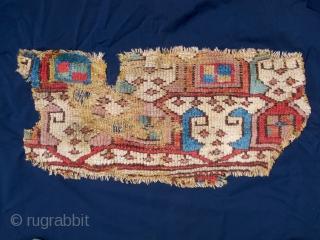 Rare anatolian fragment around 1800. Mounted on fabric. ca. 70x35cm.