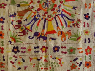 Sweet chamba rumal, India around 1900, ca. 80x80cm. overall good condition.