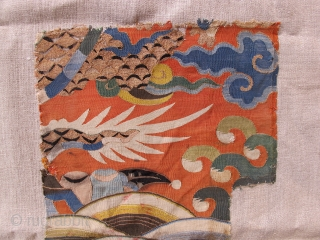 Kesi, China 17th century, ca.45x25cm. Mounted on linen.
