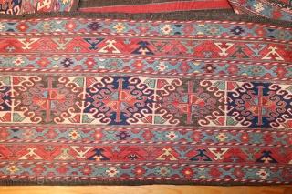 19th century shahsavan complete mafrash good colors.