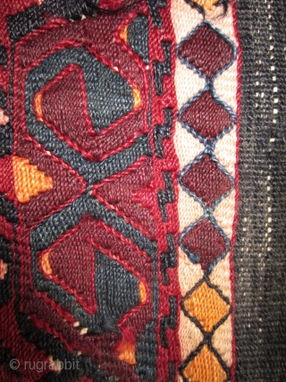 SE Anatolian chuval (sack) floating weft. Late 19th cent. 100 x 151 cm: More photos or info if you ask.