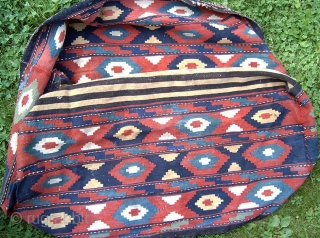Shahsavan Mafrash 1900 - 1920.  All in wool. Complet mafrash in slit kilim technic and with traditional pattern.  Organic colors in madder, indigo, green and yellow.  Good condition without repairs.