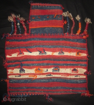 Lori salt bag. W. Persia 54 x 61 cm.  All wool. Early 20th cent. Excellent condition. More info or photos if you ask