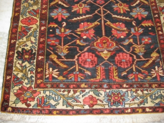An old Persian blue Tribal carpet in mint condition, size: 6.8 x 4.3 ft.