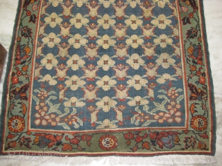 An old Turkish Tulip rug measuring 6.10 x 3.9 ft, repaired on couple of area's.