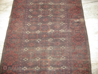 19th Century Baluch Consistent wear with age 6.9x3.4ft