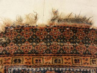 "Antique Kurdish West Persian Bagface with Peacocks 1'8"" x 1'10"""