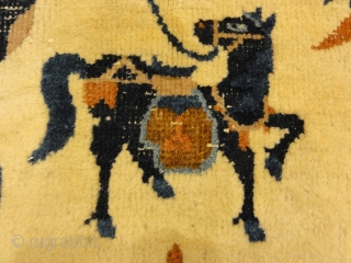 Antique Wool Peking Horse Cover