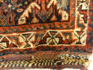 """Antique Khamseh Bag Face Size: 2' x 2'4"""""""