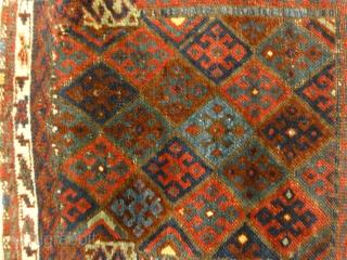 "Antique Persian Jaf Kurd Rug Circa 1880  1'7"" x 2'"