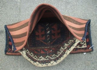 Baluch bag complete, striped kilim back, 43 x 38 cm