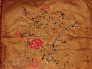 Antique china silk needle work 110cmx54cm