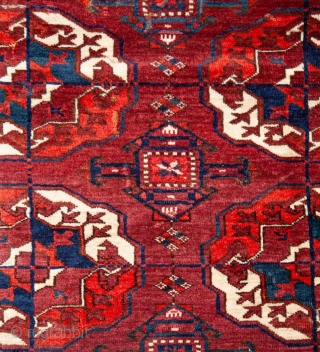 Turkmen Tekke main Rug Great wool and pile but not without problems