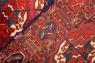 Turkmen Tekke main Rug Great wool and pile but not without problems 197 x 246 cm / 6'5'' x 8'0''