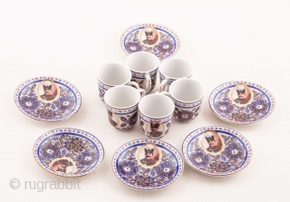 Gardner Ceramic Set of 18 pieces made for Persian Market