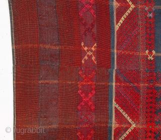 Kachin skirt, Burma ( supposedly goat hair and dog hair) 1940s 80 x 150 cm x 2'7'' x 4'11''