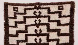 Central Anatolian angora and wool mix Tulu Rug 122 x 216 cm / 4'0'' x 7'0''