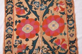 Central Asian Uzbek Suzani Fragment   68 x 260 cm / 2'2'' x 8'6''