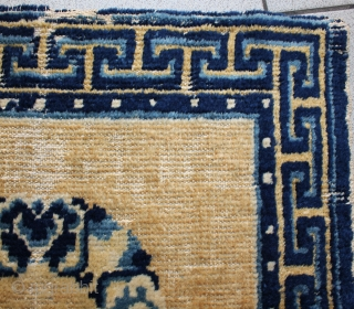 Antique chinese 19th century ninghsia mat,  size:60x60cm