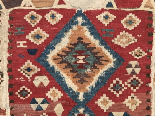 Early Anatolian small kilim size 150x085cm