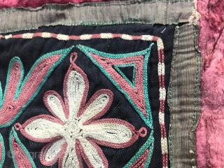 Kazakh- tuskiiz, Centrai Asians (Non-Turkmen) embroidery, carpet for decorating the walls of the Yurt, 1940-50 East Kazakhstan.