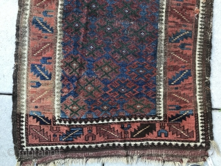 Sufiesque, almost with a Turkestani feel,  'Baluch' with cross hatch motifs, beautiful greens. Meditative.