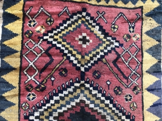 Z is for Zakatala.  I think it is zakatala. Some interesting weft changes, likely intentional. Minor repairs.  Great wool.  Fantastic hanging. Or on the floor, with the right perspective.  ...