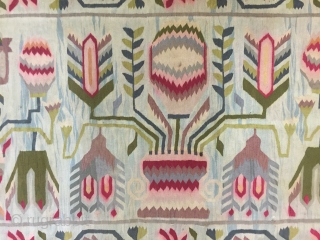 Existing decorative & Rare 19th century (1870-1890 ) Poland,Lithuania Belarus  ~ East Europe tapestry Kilim 