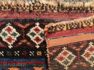 1880 Luri Qashqa'i Rug striped southwest Persian washed  mothproof  Size 243 x 157 cm