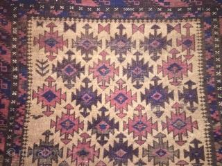 Antique Baluch timuri 1860 NE Persian size  163 x 86 cm