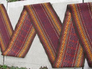 "Complete 1' 1"" x 40' 3"" Uzbekistan Tent Band.  All organic/vegetal dyes.  Link: eBay item # 321974472225   Free Ship/U.S.    Sorry, no direct overseas shipments.   ..."