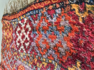 Antep Kurdish Rug. It is 120x220 CM. More than 100 years old (colours on the second picture is a proof for that) Has some repairs which can be seen on back (last  ...