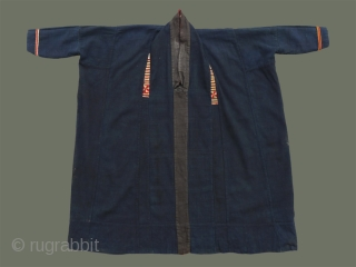 Lao Song/Tai Dam Tunic - This rare old tunic is especially unusual because both inside and outside were used: the dark, undecorated inside was worn for ceremonial use, along with the skirt  ...