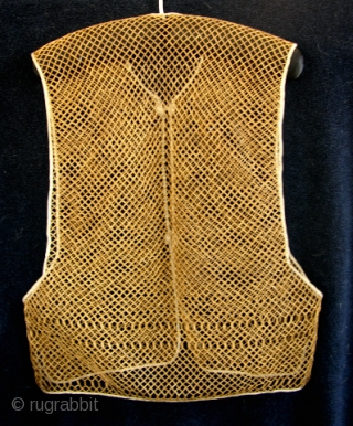 Antique Chinese Bamboo Vest  Bamboo Vests were used as undershirts under silk garments. They served the duel purpose of allowing some air circulation and protected the silk garments from body oils. These vest  ...