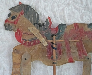 Antique Qing Dynasty Chinese shadow Puppet...         For centuries, before there was electricity, throughout Asia, Puppetry Arts were a popular form of traveling entertainment... A platform with  ...