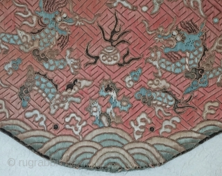 Tradition Lotus shaped Chinese silk pillow....
