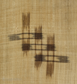 Antique Japanese Bashofu Kimono item  J178  The fabric of this Japanese kimono is made from the very finely spun bast fibers processed from the banana like tree common on Okinawa.  ...