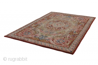 Aubusson - Antique French Carpet  Over 120+ years  More info: info@carpetu2.com