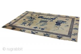 Khotan Chinese Carpet   Over 100+ years old  165x239 cm  https://www.carpetu2.com/