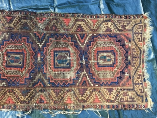 Baluch - Balouch - Belutsch Fragment - 19th century - still a Beauty - and still elegant - piece is washed -